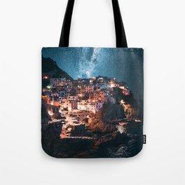 manarola at night Tote Bag