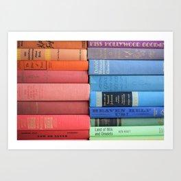 Vintage Book Rainbow Art Print