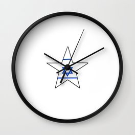 flag of israel 10- יִשְׂרָאֵל ,israeli,Herzl,Jerusalem,Hebrew,Judaism,jew,David,Salomon. Wall Clock