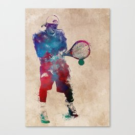 Tennis player 2 sport art #tennis #sport Canvas Print