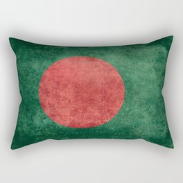Bangladeshi Flag in retro grunge Rectangular Pillow