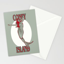 Coney Island Mermaid Stationery Cards