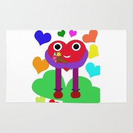 A nice heart brings you flowers. Rug