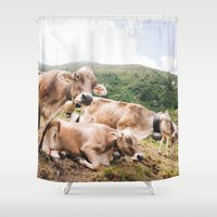 switzerland Shower Curtains featuring From Switzerland with Love by Tomas Hudolin