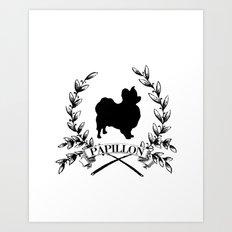 Papillon Love Art Print