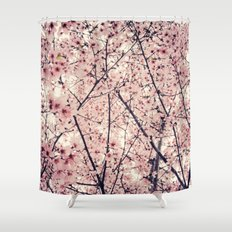 Blizzard of Blossoms Shower Curtain