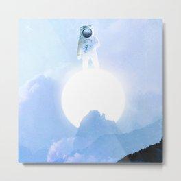Astronaut on the Sun Metal Print