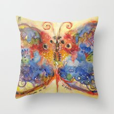 Astrazioni su ali di farfalla Throw Pillow