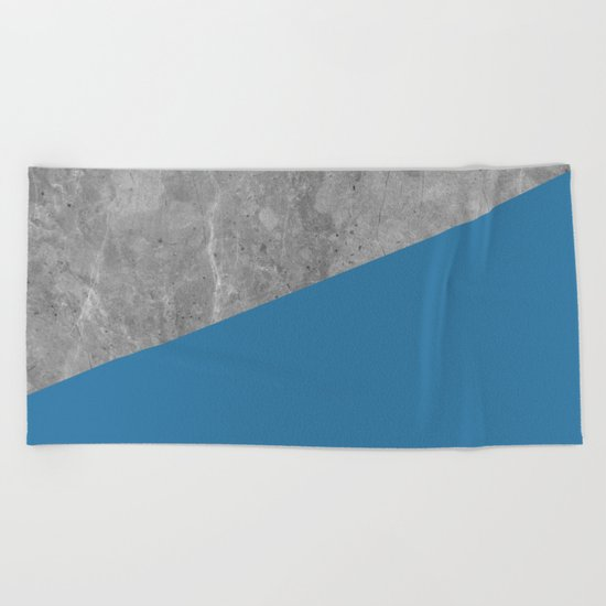 Geometry 101 Saltwater Taffy Teal Beach Towel