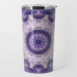 Mandala in purple colors . Travel Mug