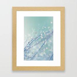 Dreamy Feather Drops Framed Art Print