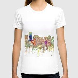 Long Beach, California Skyline - Faded Glory T-shirt