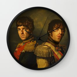 Noel Gallagher & Liam Gallagher - replaceface Wall Clock