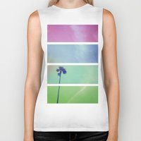 palm tree Biker Tanks featuring Palm Tree by Whitney Retter