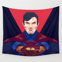 superman Wall Tapestries featuring Superman by Muito