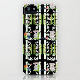 Cute pair of Koalas - Black iPhone Case