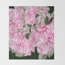 Pink Bouquet On A Black Background  #society6 #buyart Throw Blanket