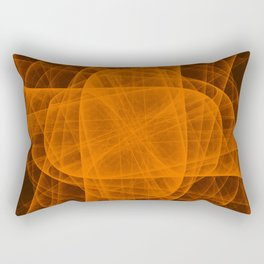 Eternal Rounded Cross in Orange Brown Rectangular Pillow