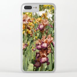Iris Flowers Clear iPhone Case
