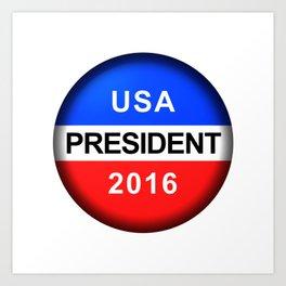 Vote Button President Art Print