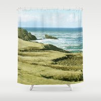 west coast Shower Curtains featuring West Coast by BRITADESIGNS