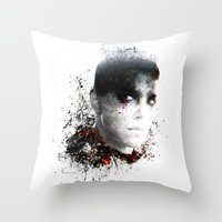 mad max Throw Pillows featuring Mad Max Furiosa by ururuty