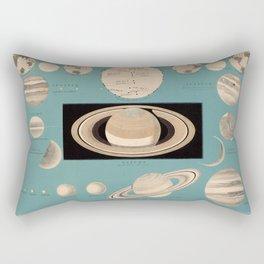 Vintage Planetary Size Comparison Chart (1869) Rectangular Pillow