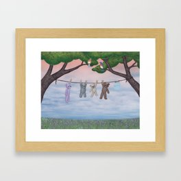meadow fresh teddy bears Framed Art Print