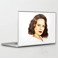 peggy carter Laptop & iPad Skins featuring Agent Carter by Olivia Nicholls-Bates