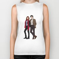 karen hallion Biker Tanks featuring Matt Smith as Dr Who and Karen Gillan as Amy Pond by liamgrantfoto