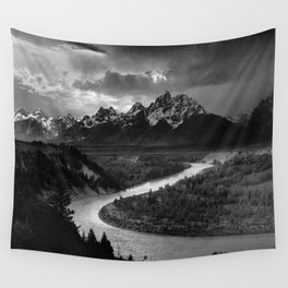 Ansel Adams - The Tetons and Snake River Wall Tapestry