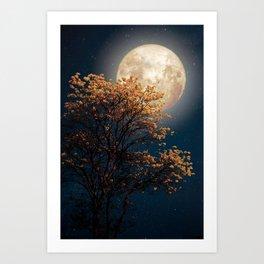 Under Full Moon Art Print