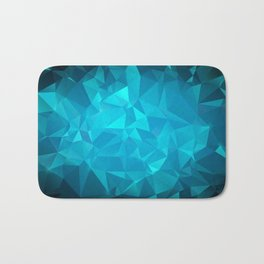 Blue Polygonal Mosaic Bath Mat