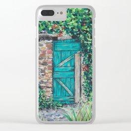 Vinyard Door Clear iPhone Case