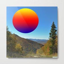 Rainbow moon Metal Print