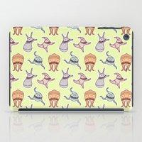 sticker iPad Cases featuring sticker monster pattern 6 by freshinkstain