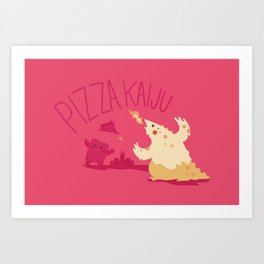 Pizza Kaiju Art Print