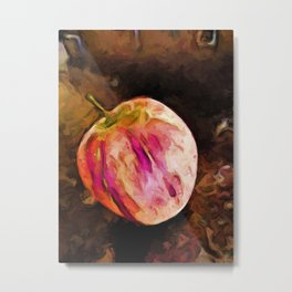Pink and Orange Apple Metal Print