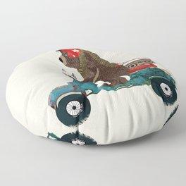 scooter bear Floor Pillow