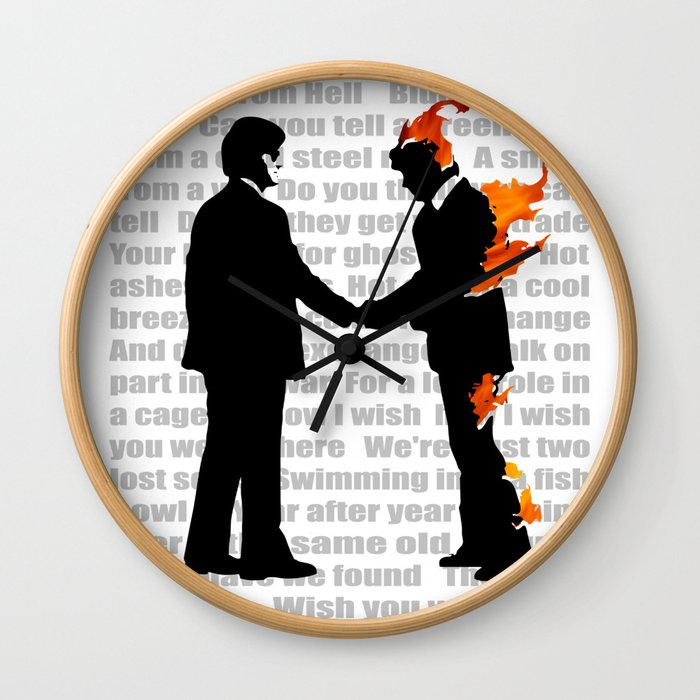 #WISH YOU WERE HERE #1 Wall Clock