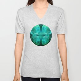 """Abstract aquamarine, deep waves"" Unisex V-Neck"
