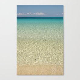 Crystal clear turquoise shaded waters of a sandy beach Canvas Print