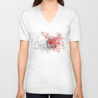 alabama V-neck T-shirts featuring Alabama by Tanie
