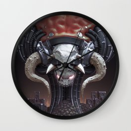 Mother of Metal Wall Clock