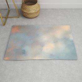 Ireland's sky - Pastel Cloudscape Rug