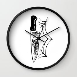 death knife Wall Clock