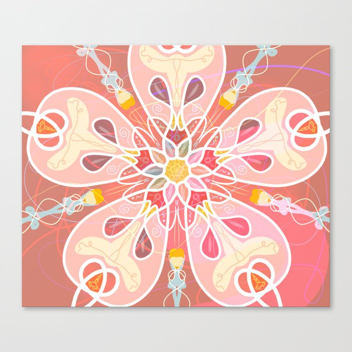 Dreamy flower Canvas Print