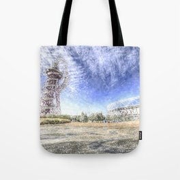 West Ham Olympic Stadium And The Arcelormittal Orbit Snow Tote Bag