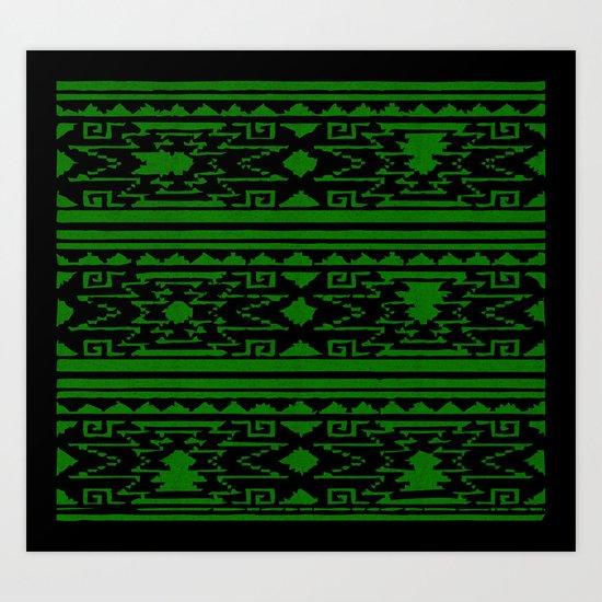 Aztec 3# Art Print