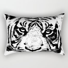 Black & White Tiger Rectangular Pillow